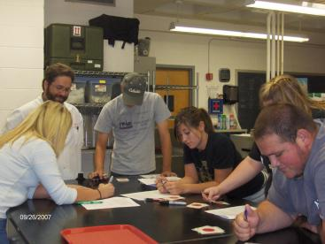 Students (3)>Dr P teaching dairy students.JPG